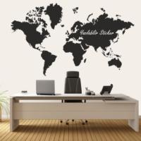 Dekorloft Dünya Haritası Yazılabilir Sticker 125X80 Cm