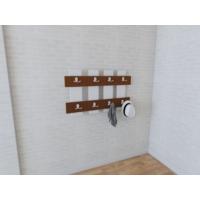 Nav Decoration Ocean Portmanto ve Askılık - Beyaz/Ceviz (60x3,6x60h cm)
