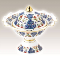 Kütahya Porselen El Dekoru Handan 22 Cm Şekerlik Dekor No:01415
