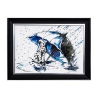 Vitale Şemsiye ve Köpek Dekoratif Tablo
