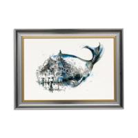 Vitale Balık ve Manzara Dekoratif Tablo