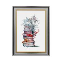 Vitale Kitap ve Manzara Dekoratif Tablo