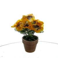 Vitale Saksıda Sarı Yapay Çiçek