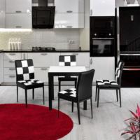 Vitale Cam Yemek Masası Seti Beyaz