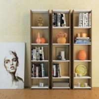 Eyibil Mobilya Ayza 3 ' Lü Kitaplık Modern Tasarım Ceviz Beyaz