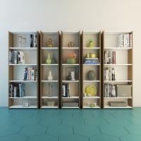 Eyibil Mobilya Kuzey 5 ' Li Kitaplık Modern Tasarım Ceviz Beyaz