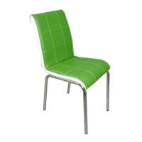 Mavi Mobilya Sandalye Yeşil Suni Deri (4 Adet)