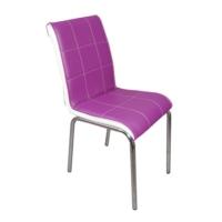 Mavi Mobilya Sandalye Mürdüm Suni Deri (6 Adet)