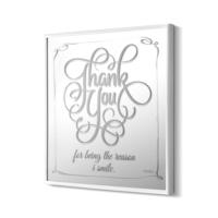 The Mia Dekoratif Ayna Thank You 68 * 68 Cm - Beyaz