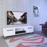 Eyibil Mobilya Melissa 140 cm Tv Sehpası Tv Ünitesi Parlak Beyaz
