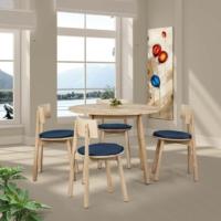 Vitale Seven Masa Sandalye Seti Mavi