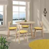 Vitale Seven Masa Sandalye Seti Sarı