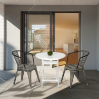 Vitale Tolix-K Bahçe Masa Sandalye Seti