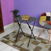 Adore Handy Mate Spring Katlanabilir Servis Masası - Siyah