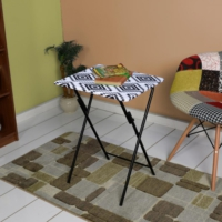 Adore Handy Mate Spring Katlanabilir Servis Masası - Siyah Beyaz