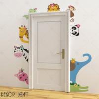 DekorLoft Kapı Arkadaşları Çocuk Odası Sticker CS-1386