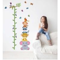 Çocuk Odası Duvar Dekorasyonu Sevimli Hayvanlar Boy Ölçen PVC Sticker