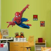 Örümcek Adam Spiderman Erkek Çocuk Odası Dekorasyon 3 Boyutlu Çizim PVC Duvar Sticker