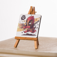 KFBiMilyon Deadpool Chibi Tasarımlı MDF Masa Dekoru
