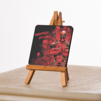 KFBiMilyon Deadpool Bitches Tasarımlı MDF Masa Dekoru