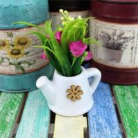 Sulama Kabında Yapay Çiçek Pembe
