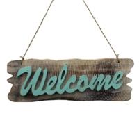 Ahşap Welcome Kapı Süsü