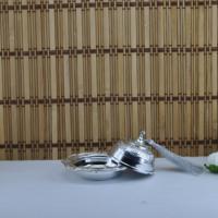 Tahtakale Toptancısı Plastik Lokumluk Yuvarlak Püsküllü Altın/Gümüş Kaplama (12 Adet)