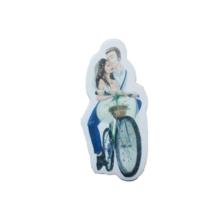 Tahtakale Toptancısı Sticker Karton Gelin Damat Bisikletli Çiçekli (50 Adet)
