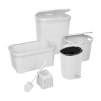 Modelüks 5'li Hasır Banyo Seti Beyaz