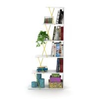 Rafevi Tars Kitaplık Mini (Beyaz-Sarı)