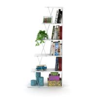 Rafevi Tars Kitaplık Mini Beyaz Krom