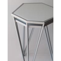 Metal Tasarım Zigon Sehpa Altıgen 2'li Set Gri