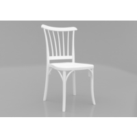 Mobetto 4 Adet Violet Sandalye Beyaz