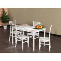 Mobetto Soho Masa + 4 Adet Soho Sandalye – Beyaz