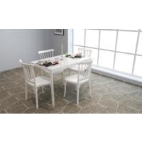 Mobetto Soho Masa – 4 Adet Violet Sandalye – Beyaz