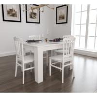 Mobetto Hanımeli Masa + 4 Adet Miray Sandalye – Beyaz