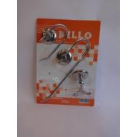 Bello 3'lü Set ( Açık Wc Kağıtlık + Açık Solo Havluluk + Çiftli Bornozluk )