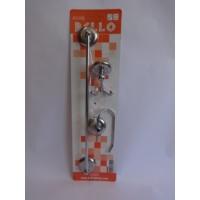 Bello 3'lü Set ( Açık Wc Kağıtlık + Uzun Havluluk + Çiftli Bornozluk )