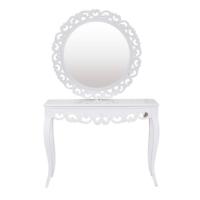 Le Dantela Dresuar Ayna Beyaz