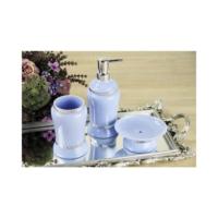 3Lü Mavi Banyo Seti Sılver