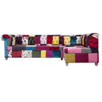 Patchwork L Koltuk Chesterfield