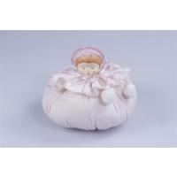 Miss Gaya Lavanta Kesesi Yuvarlak Pembe Beyaz Çizgili Bebek Figürlü