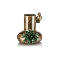 Çiçekli Tek Kuşlu Dalga Vazo