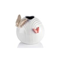 Kelebekli Beyaz Vazo