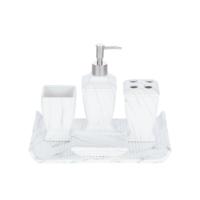 Biev Beyaz 5 Parça Banyo Seti
