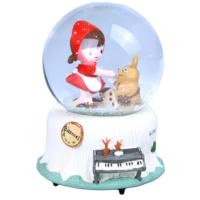 Küçük Kız Işıklı Kar Küresi Müzik Kutusu