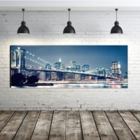 Duvar Tasarım DLCD-1005 Ledli Kanvas Tablo - 50x150 cm