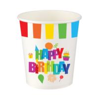 KullanAtMarket Renkli Doğum Günü Karton Bardak