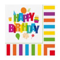 KullanAtMarket Renkli Doğum Günü Peçete 33x33cm