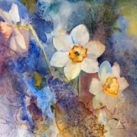 Iwall Çiçek Resimli Kare Tek Parça İWALL-IFL- 2001-KARE-1 Duvar Kağıdı